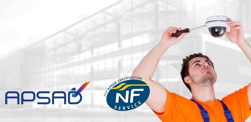 berthelon Alarmes a la certification APSAD NF SERVICE