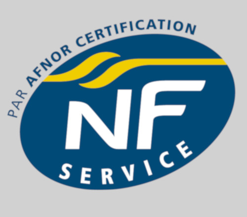 Fond gris clair avec NF Afnor