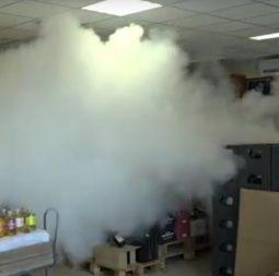 Berthelon alarmes diffusion de fumée et brouillard opacifiant à chambéry