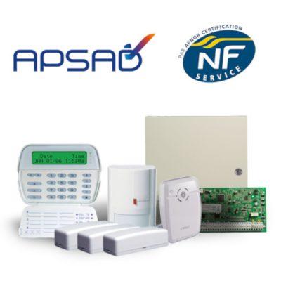 Système d'alarme installé selon la norme alarme NFA2P